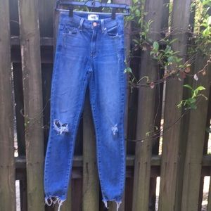 Paige Hoxton Distressed Skinny Jeans Sz 23